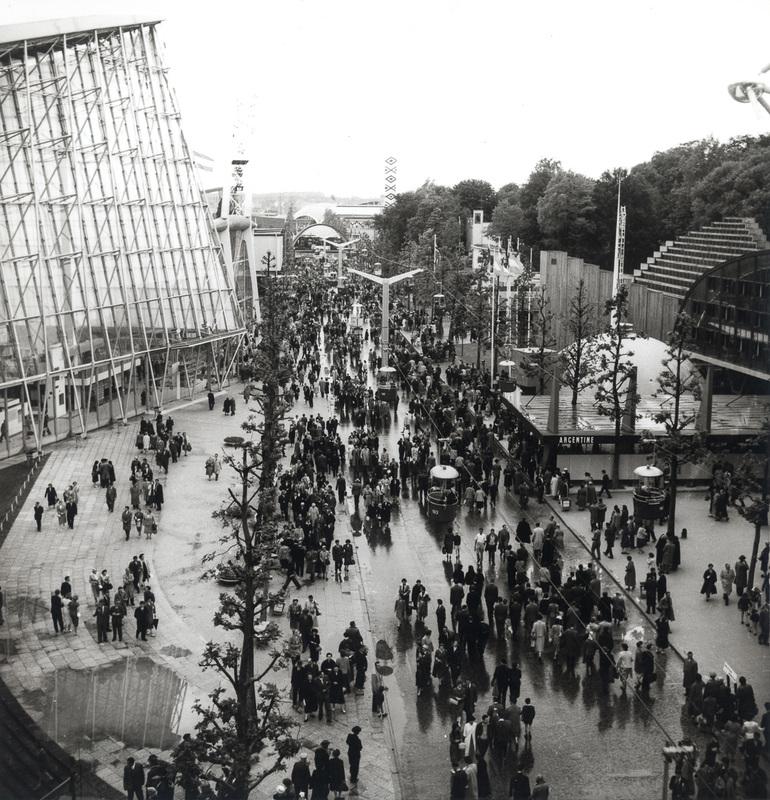 La foule à l'Expo' 58