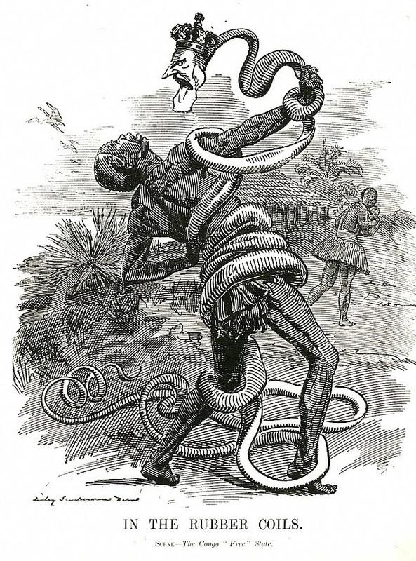 """« In the rubber coils. Scene - The Congo """"Free"""" State » (Etouffé par l'enroulement du caoutchouc. Scène de l'Etat Indépendant du Congo)"""