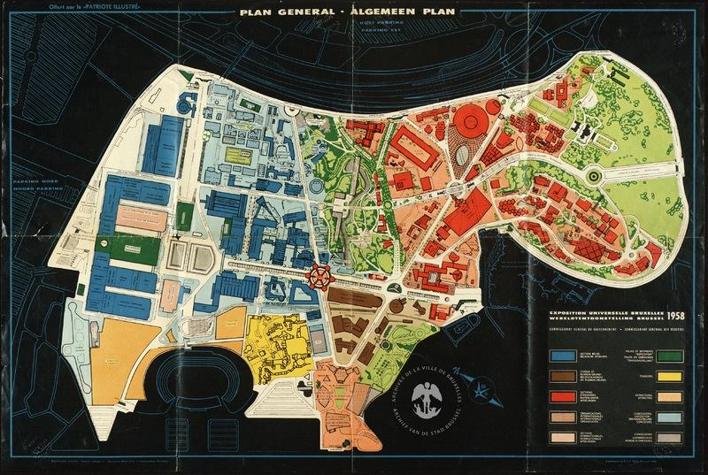 Plan général de l'Exposition universelle et internationale de Bruxelles