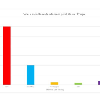 Valeur monétaire des denrées produites au Congo