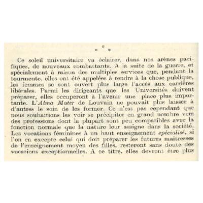 <em>Discours d'ouverture de l'exercice 1920-1921, prononcé après la messe du Saint-Esprit, au Grand Auditoire du Collège du Pape Adrien VI</em>
