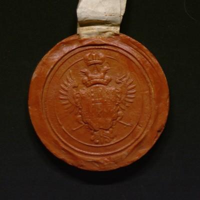 Grand sceau de l'impératrice Marie-Thérèse d'Autriche, particulier pour le duché de Brabant